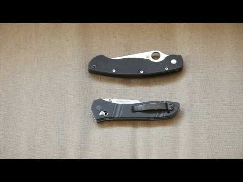 Benchmade 710 and the Spyderco Military Comparison