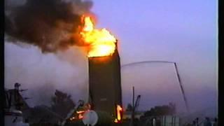 Burning Grain Elevator Gettysburg, South Dakota