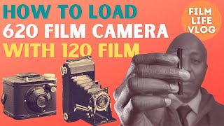 How to load a 620 film camera with 120 film