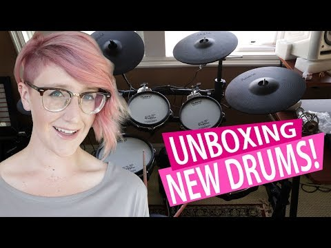 I GOT NEW DRUMS!! Unboxing/Review
