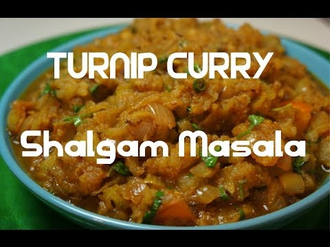 Turnip Curry - Indian Shalgam - Shaljam Masala vegan - YouTube