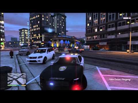 Grand Theft Auto 5 - Super rare POLICE BUFFALO K9 Found on GTA V