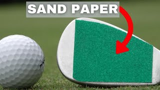 WE GLUE SANDPAPER TO A LOB WEDGE - CRAZY GOLF SHOTS