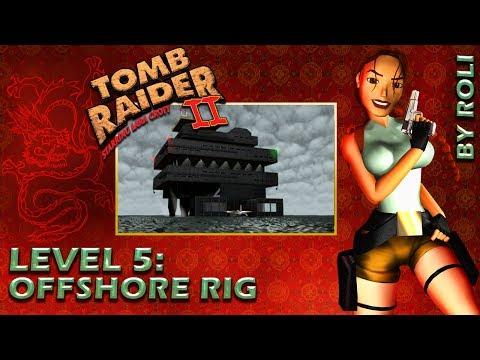 Tomb Raider 2 (1997) - Level 5: Offshore Rig Walkthrough