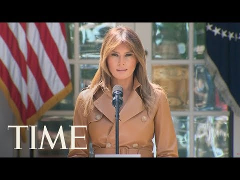 First Lady Melania Trump Participates In An Initiative Launch Event For 'BE BEST' | LIVE | TIME