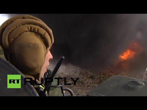 Tanques voladores y deltaplano de combate: simulacros conjuntos de Rusia y Serbia SREM-2014