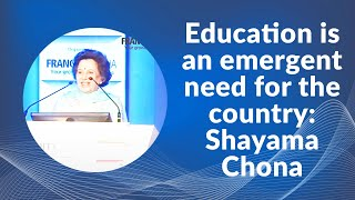 Education is an emergent need for the