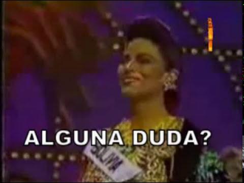 Miss Universo 1990,  Miss Bolivia se presentó con el traje de la DIABLADA