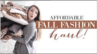 AFFORDABLE FALL CLOTHING HAUL + TRY-ON! | Natalie Bennett