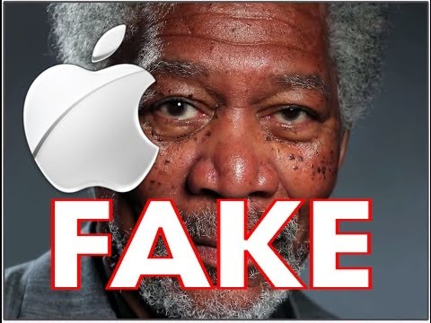 iPad Art Morgan Freeman Finger Painting ***FAKE***