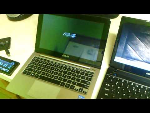 Boot up & Restart match Asus vivobook vs Acer Aspire One 756
