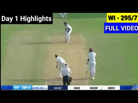 India vs West Indies 2nd Test match Day 1 Highlights 2018 | IND VS WI HIGHLIGHTS | NEGA NEWS CRICKET