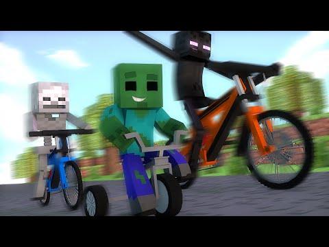 Minecraft : CORRIDA DE BICICLETAS - Escola Monstro Férias #02   Monster School Minecraft