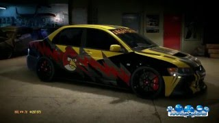 Need for Speed | Mitsubishi Lancer Evo | Angry Drift | HardPokers | Tuning | Customization | Wraps