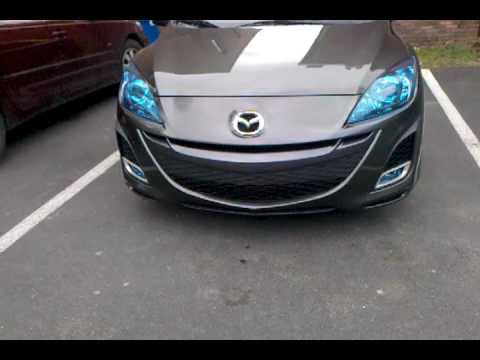 Blue headlights for 2010 Mazda 3 mazda3 2.5L
