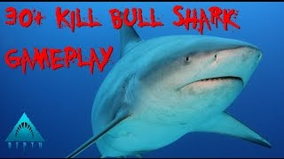 Depth |Gameplay| 30+ Kills Shark Game (Bull)