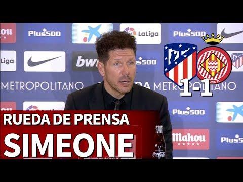 Atlético de Madrid 1-1 Girona | Rueda de prensa de Simeone | Diario AS