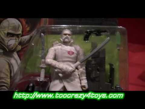 GI JOE Rise of Cobra Action Figure Review Storm Shadow Ninja Mercenary 7 and 12