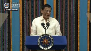 SPEECH: President Duterte's 2019 State of the Nation Address