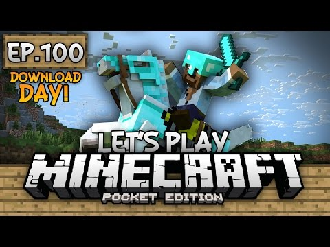Survival Let's Play Ep. 100 (DD) - WORLD TOUR!!! - Minecraft PE (Pocket Edition)