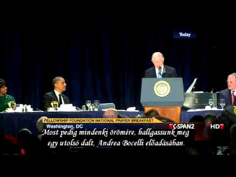 National Prayer Breakfast 2013 – Andrea Bocelli – Magyar felirattal – Hungarian subtitles