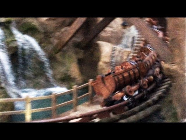 Seven Dwarfs Mine Train Update - Wall Down, Car on Track, Waterfall - February 2014, Opens Spring