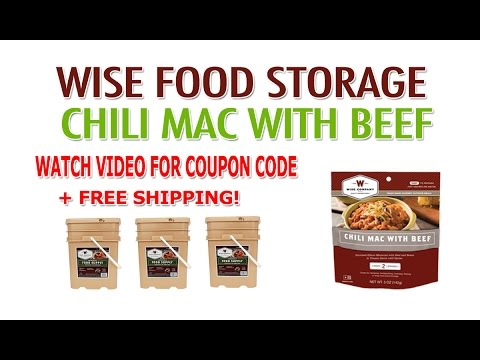 Wise Food Storage Review & Coupon - Wise Company Chili Mac With Beef