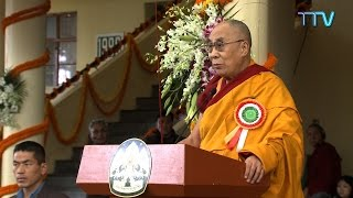 His Holiness the Dalai Lama's speech at Long Life Prayer Offering on 3 November 2015