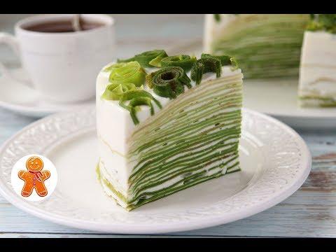 """Блинный Торт """"Весенний"""" в Технике Омбре ✧ Ombre Crepe Cake"""