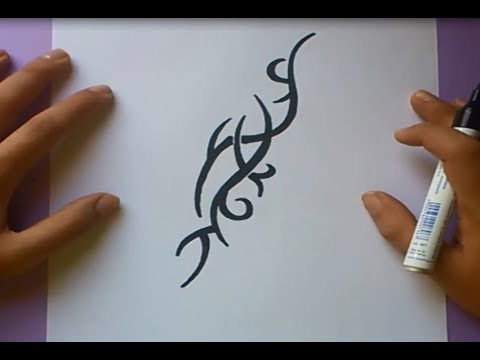 Como dibujar un tribal paso a paso 39 | How to draw one tribal 39 ...