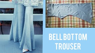 Easy Bell Bottom Trouser Designer Cutting & Stitching for Beginners