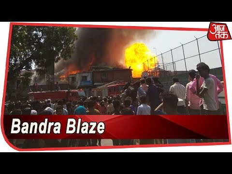 Massive Fire Breaks Out In A Slum Near Mumbai's Bandra; Rescue Operations Underway