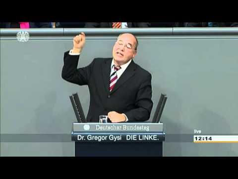 Eine Diktatur der Finanzmärkte   Gregor Gysi stellt Systemfrage (07.09.2011)