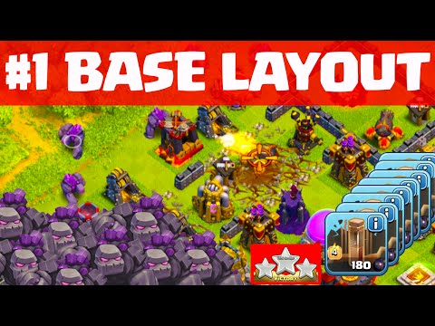 Clash of Clans MOST Popular base DESTROYED Easily! ♦ 16 is the Magic Number! ♦ CoC ♦