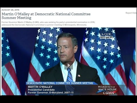 Martin O'Malley at Democratic National Committee Summer Meeting in Mpls