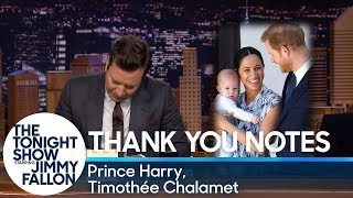 Thank You Notes: Prince Harry, Timothée Chalamet