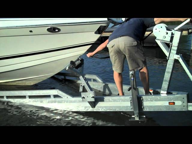 Loading your boat on a Loadmaster Trailer