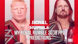 My WWE Royal Rumble 2018 PPV Predictions