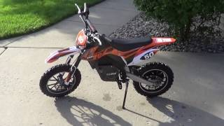 Mototec 24 Volt 500 Watt Electric Dirt Bike Review