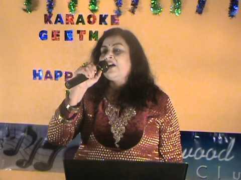 Gali Mein Aaj Chand Nikla(Zakhm)Performed in Karaoke Geetmala...