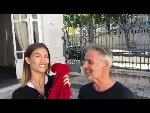 My Red Velvet Bag and Top Model Desire Cordero in Lisbon