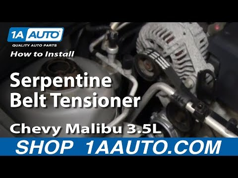 How To Install Replace Serpentine Belt Tensioner Chevy Malibu 3.5L 04-06 1AAuto.com