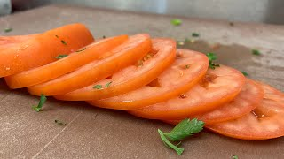 4K* PERFECTLY SLICED TOMATOES (do it yourself)