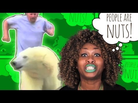 GloZell: People Are Nuts (1.) Video Clip Challenge: LOOK OUT FOR THAT POLAR BEAR!!!
