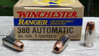 .380 ACP Winchester Ranger T-Series JHP Ammo Test
