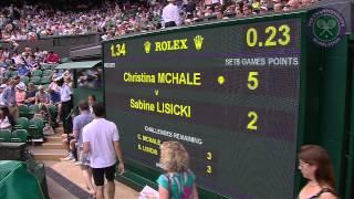 2015 Day 4 Highlights, Christina McHale vs Sabine Lisicki
