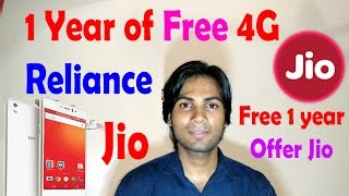 Reliance Jio 1 year Unlimited 4G & Call Offer for 1 Year Freeee..!!!
