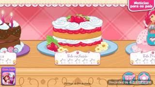 Jogos da moranguinho:bolo de frutas!