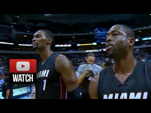 Dwyane Wade & Chris Bosh Highlights at Mavericks (2014.11.09) - 40 Pts, 15 Ast Total!