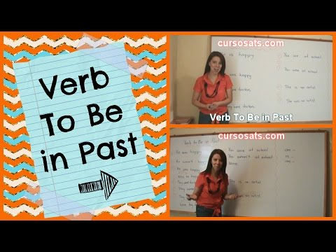 Past of the Verb To Be